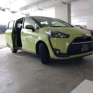 Toyota sienta long term rental