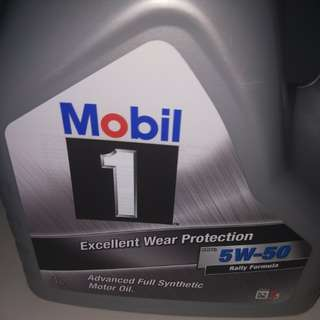 Mobil 1 engine oil.  4litre