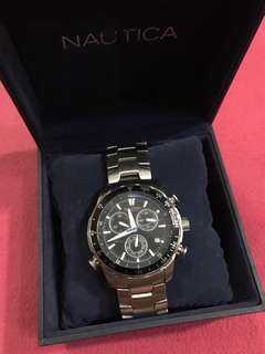 Nautica stainless steel chronograph watch for sale