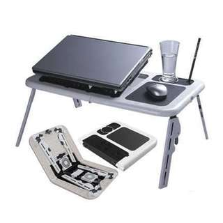 E-Table Portable Laptop Stand with 2 USB Cooling Fans