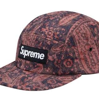 Supreme x Liberty Paisley Camp Cap