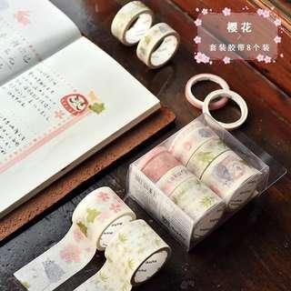 Sakura Washi Tape 8 In 1 Set Preorder