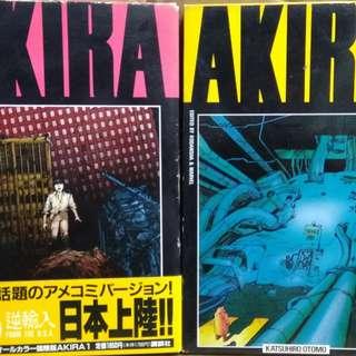 AKIRA國際版1,2部,合共8本書連一海報,大友克洋作品,講談社出版
