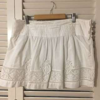 ZARA TRF White Skirt with lace detail