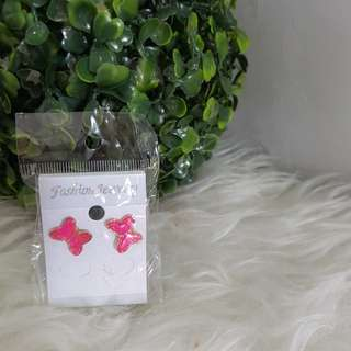 JUAL RUGI NEW anting kupu pink