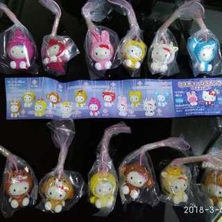 扭蛋-十二生肖Hello Kitty 手機繩