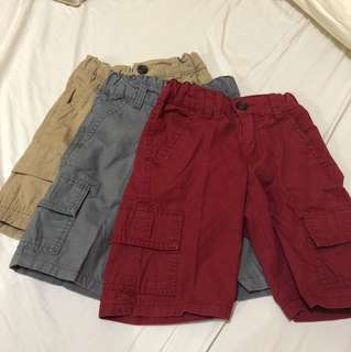 Cotton Cargo Shorts 3pcs