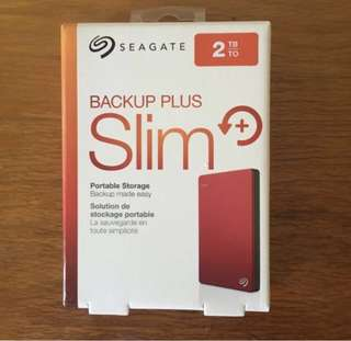 2TB Seagate Backup Plus Portable Hard Disk Drive HDD