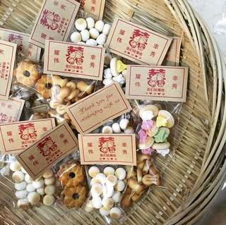 100pc Wedding Favor Custom Bag Toppers and Bags