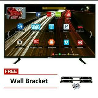 "SPARC S3200S 32"" Slim Smart LED HDTV with Wall Mount Bracket"