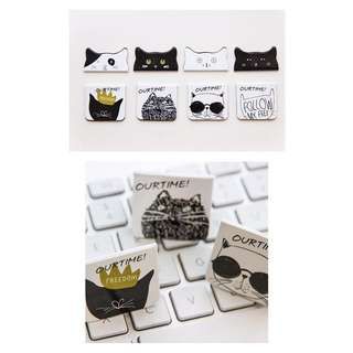 Cat Magnetic Bookmarks (sold per pair)