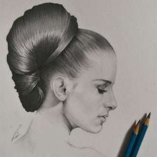 Portrait drawing commission | Lukis portrait