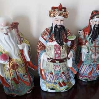Chinese figurines (Fu Lu Shou)