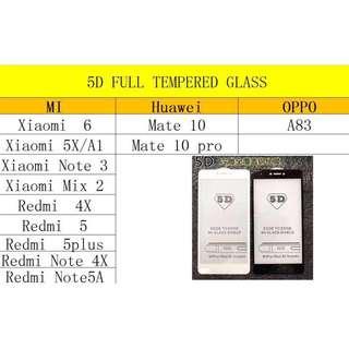 original 5d  full tempered glass for huawei p10plus+/mate 9