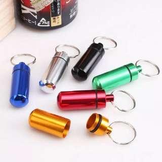183-Portable Aluminium Pill Box Keychain