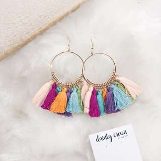 Colorful Tassels Earrings