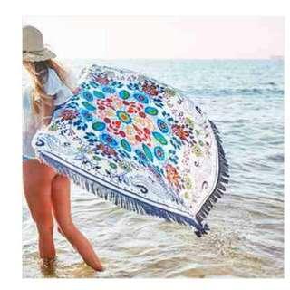 Round Beach Towel FLORAL