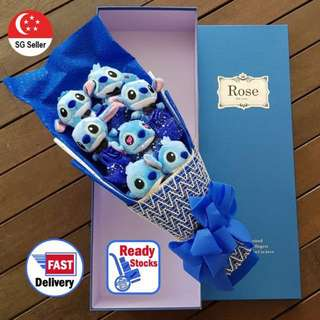 Stitch Plushie Bouquet Valentines/Anniversary Gift (LARGE)