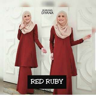 Kurung Diyana NFH boutique gallery (size  M) color red brick