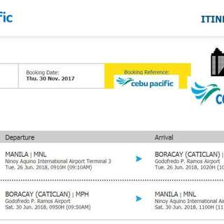 2 Roundtrip Tickets to Boracay