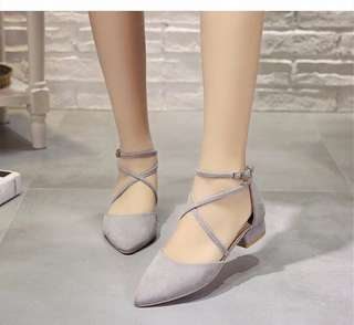 *BN* Maryjane Cross Straps Heels in Size 37