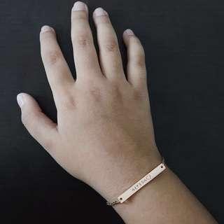 Hand-stamped Skinny Bar | Lil' Lacie Bracelet