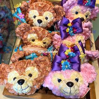 PO Hong Kong Disneyland spring Duffy and Shelliemay flower head sling bag