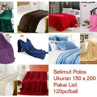 Selimut polos soft panel