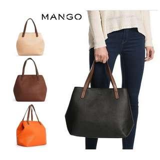 MANGO bucket Shoulder Shopper Tote Bowling Bag