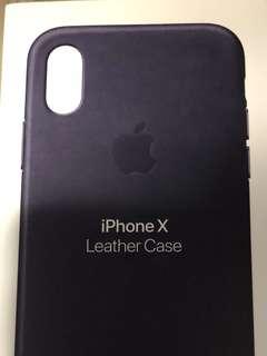 iPhone X 原廠皮套(藍)