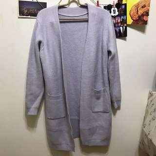薰衣草紫粉色針織外套