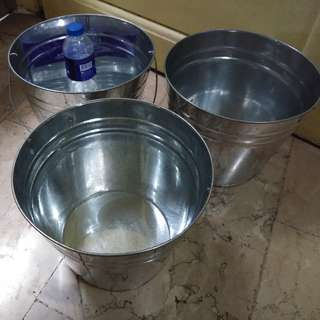 Steel Buckets 3pcs