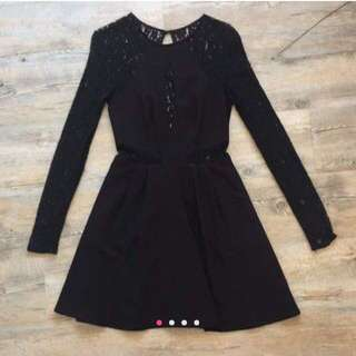 Keepsake black lace dress