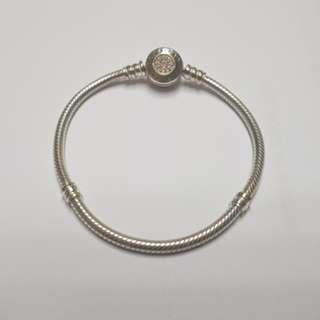 Pandora 14k金鋯石扣頭手鍊(17公分)