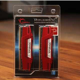 RAM : G.Skill Ripjaws V 2400MHz 16GB(2x8GB) 15-15-15-35