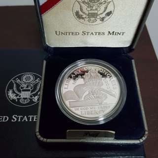Liberty silver proof coin