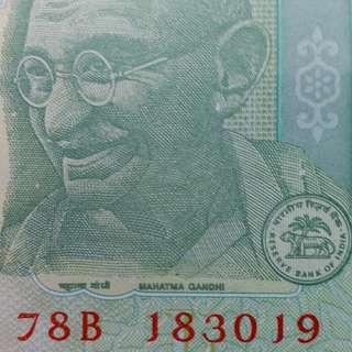 2009年 亞洲 印度5盧比 183019 全新直版
