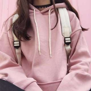 NEW LOOK Pastel pink hoodie long sleeve pullover sweater top