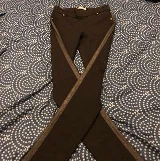 Black tight stretchy pants