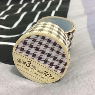 Checkered Fabric Tape Rolls