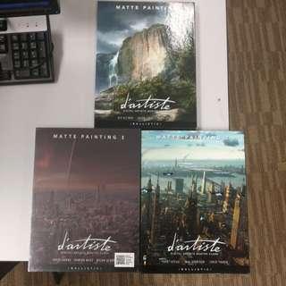 d'artiste digital artist masterclass matte painting art books.