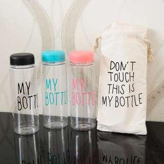 My Bottle Free Pouch 500ml ( tritan gratis sarung botol sendok set