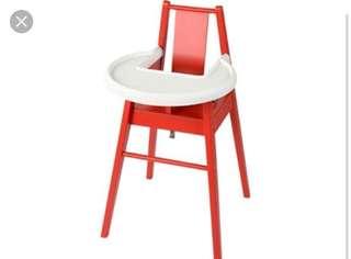High chair Ikea - Blames Red
