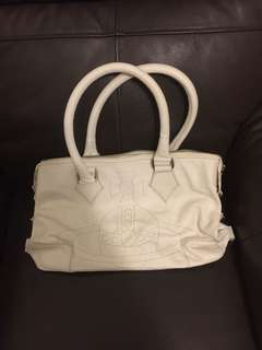 Vivienne Westwood white leather bag