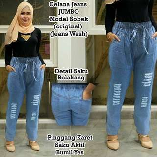 Jeans jumbo model sobek