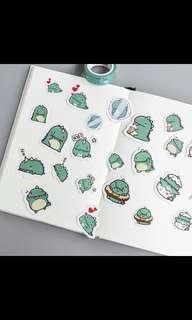 PO dinosaur stickers