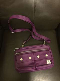 Porter purple leather bag