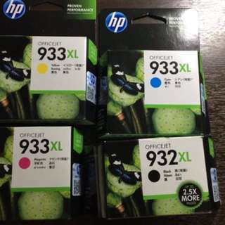 HP Officejet 933XL & 932XL ink cartridges