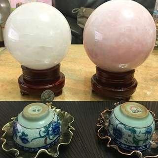 (大) 水晶球 粉晶球