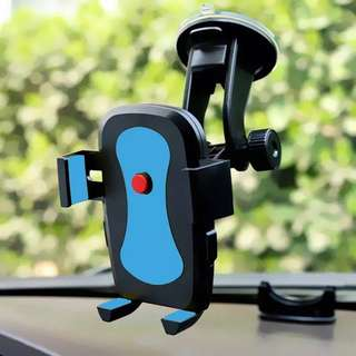 Mechanical grip car phone holder non extendable red